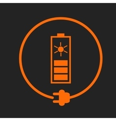 Solar battery as energy source vector image