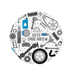 spare parts background vector image