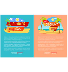 summer big sale best discount 30 off online pages vector image