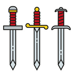 sword icon symbol set vector image