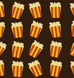 tasty pop corn theme vector image