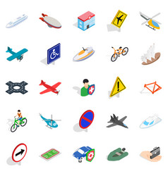 transfer icons set isometric style vector image
