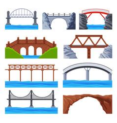 various bridges collection urban architecture vector image