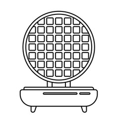 Waffle maker icon outline style vector