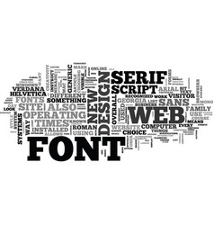 web design what fonts to use text word cloud vector image