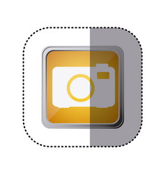 yellow emblem cemera technology icon vector image