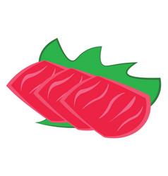 yummy sashimi or color vector image