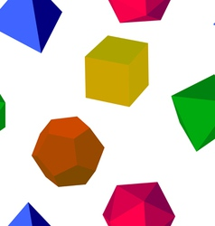 3d colorfull geometric shapes vector image vector image