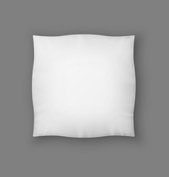 Blank Square White Pillow vector image