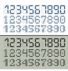 Digital font numbers vector image vector image