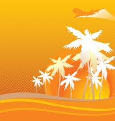 hawaii orange vector image vector image