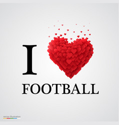 i love football heart sign vector image vector image