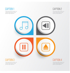 music icons set collection of extract device vector image vector image