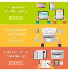 Online educationonline training courses and vector image vector image