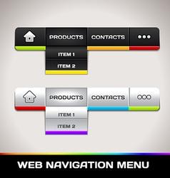Web navigation menu vector
