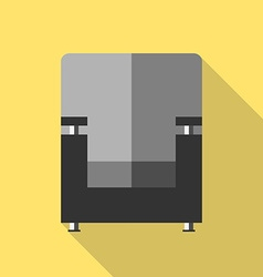 Armchair icon flat style vector image vector image