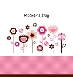 Beautiful flowers for Mothers Day celebration vector image