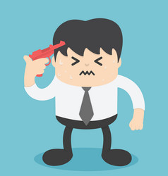 businessmen are sad at hand with guns ready to vector image vector image