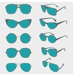 color of sunglasses frames vector image