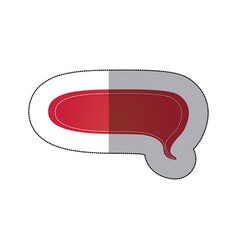 red chat bubble icon vector image vector image
