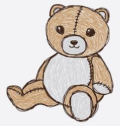 sketch cute bear vector image vector image