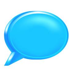 blue blank speech bubble icon vector image