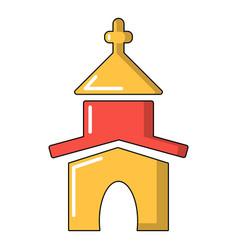 Church icon cartoon style vector
