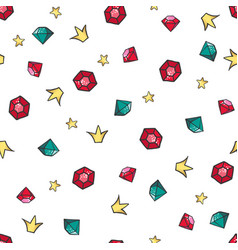 cute seamless pattern with diamonds vector image