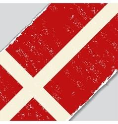 Danish grunge flag vector