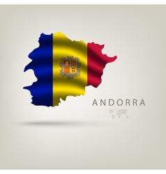 Flag of andorra as a country with shadow vector image