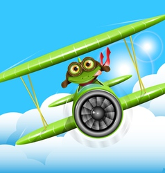 frog pilot vector image vector image