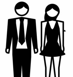 male female vector image vector image
