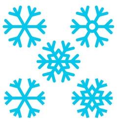 Snowflake - Snowflakes Set Isolated on White vector image