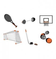 sport elements vector image vector image