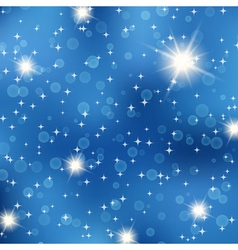 Starry night abstract background vector image