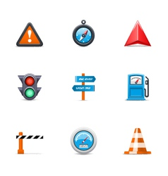 Traffic icons vector image vector image