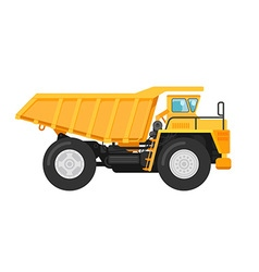 Yellow mining dump truck tipper vector image vector image