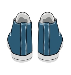 cartoon blue sneakers vector image vector image