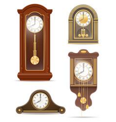 clock old retro set icon stock vector image