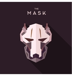 Mask into flat style graphics art vector image vector image