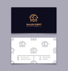 private community business card house icon home vector image vector image