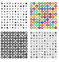 100 calendar icons set variant vector