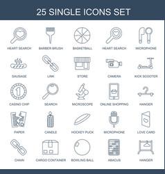 25 single icons vector