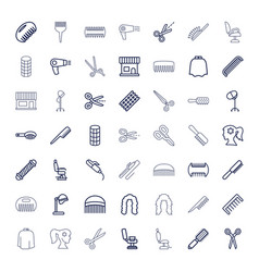 49 hairdresser icons vector