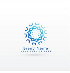 Abstract mandala style logo concept design vector