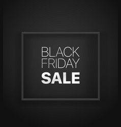 black friday sale banner black banner vector image