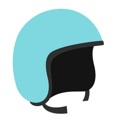 Blue safety helmet icon isolated vector