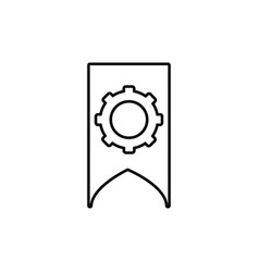 bookmark settings icon vector image