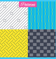 Braid weave diagonal lines seamless textures vector