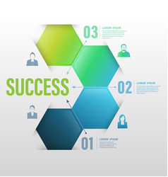 Business concept up to success number vector